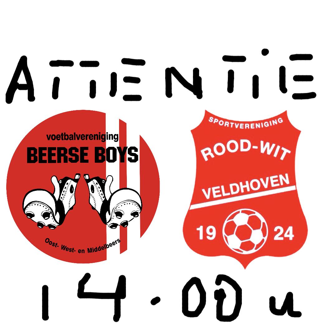 Duel Beerse Boys 1 vs Rood-Wit V. 1 half uur eerder!