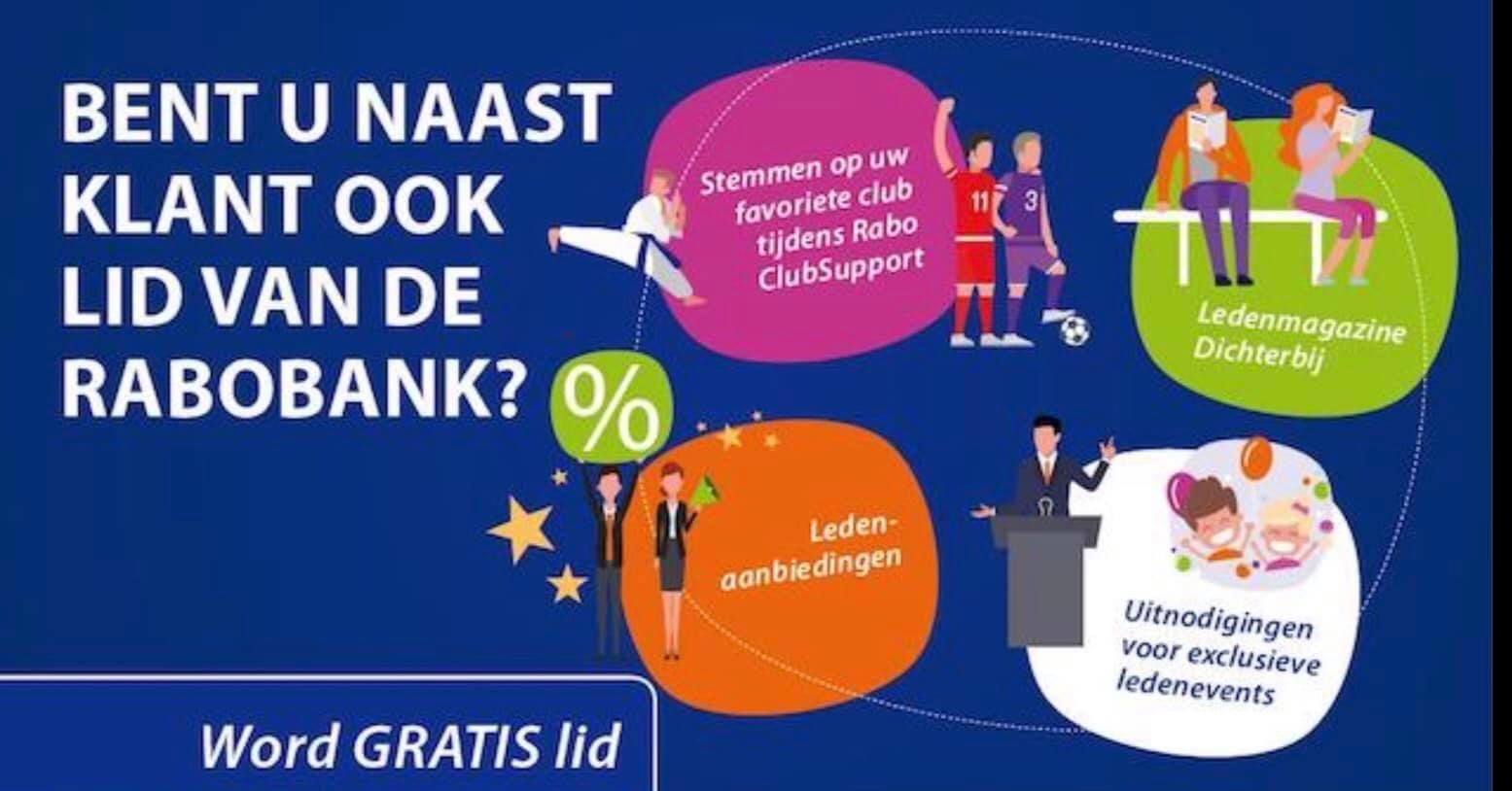 OPROEP word gratis lid van de Rabobank