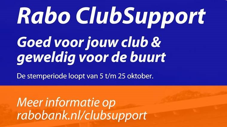 ★ Rabo ClubSupport ★ Stem nu op jouw club Rood-Wit Veldhoven