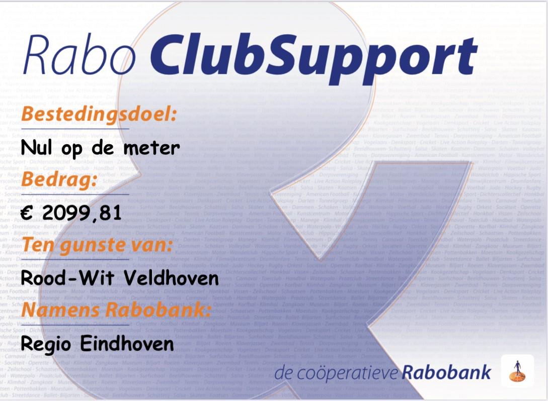 ★ Rabo ClubSupport ★ Fantastisch Resultaat!